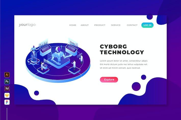 Thumbnail for Cyborg Technology - Page d'accueil isométrique