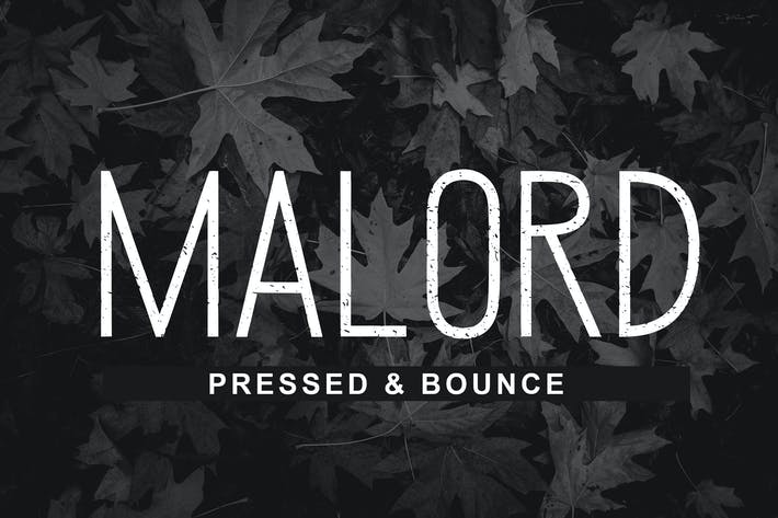 Malord Pressed Font
