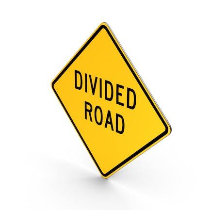 Unterteiltes Straßenschild