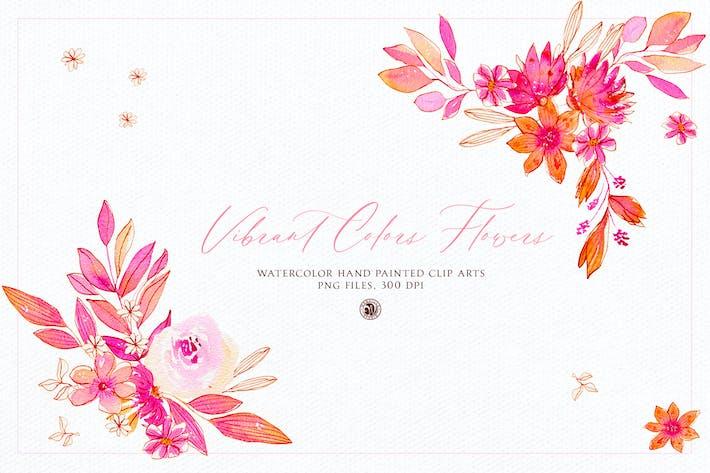 Lebendige Farben Blumen - Aquarell-Set