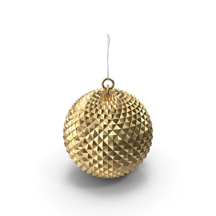 Золотой шар Рождественский орнамент