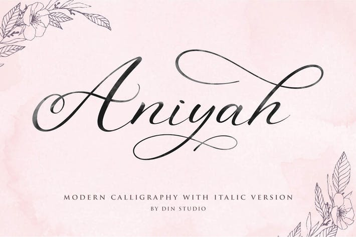 Cover Image For Aniyah - Calligraphy Script