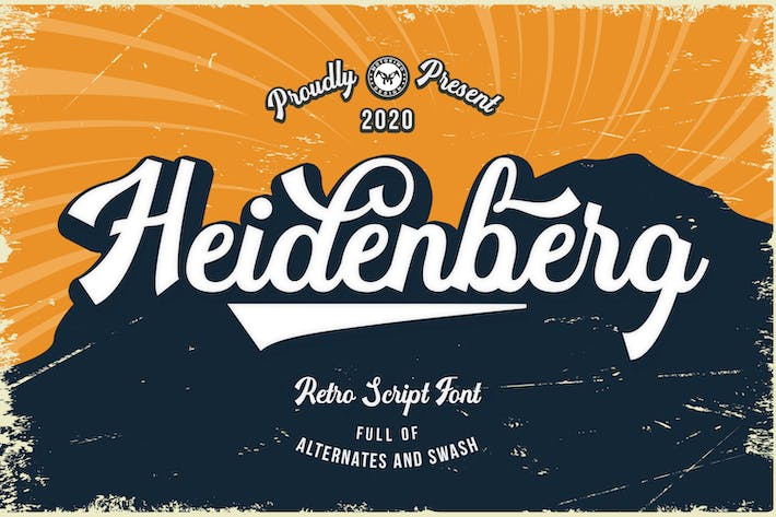 Thumbnail for Heidenberg - Retro Font