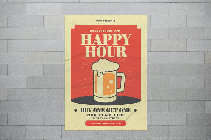 Thumbnail for Happy Hour With Illustration Beer