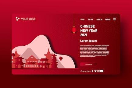 Chinese New Years - Landingpage Ilustration