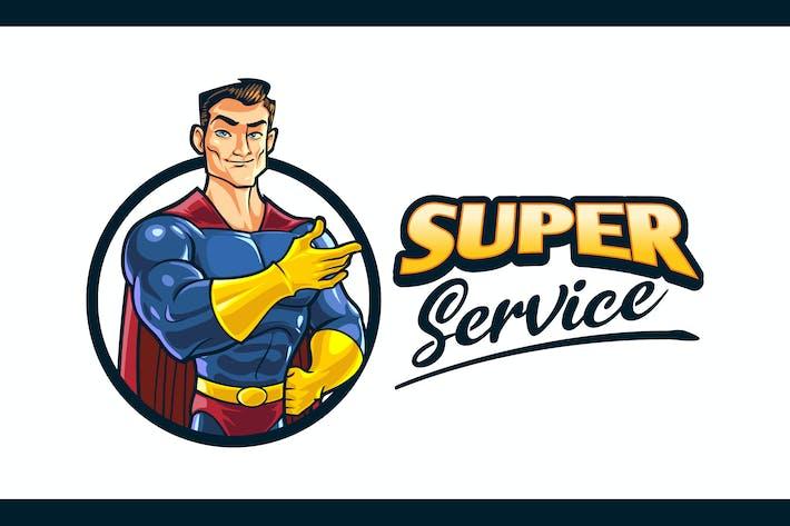 Thumbnail for Cartoon Superhero Character Mascot Logo