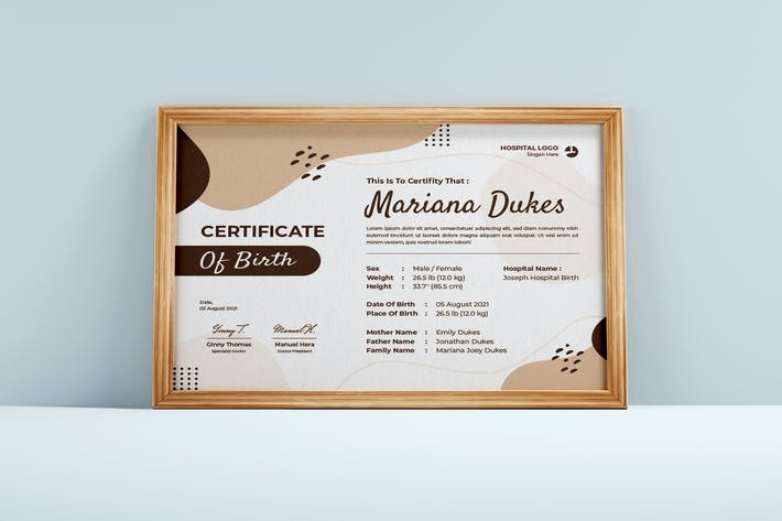 Minimal Identity Certificate