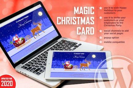 Magic Christmas Card With Animation - WP Plugin