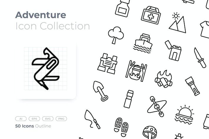 Adventure Outline Icon