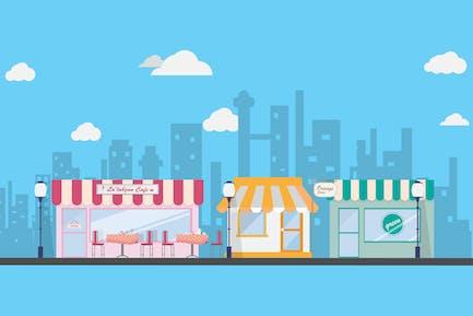 Market - Illustration Background