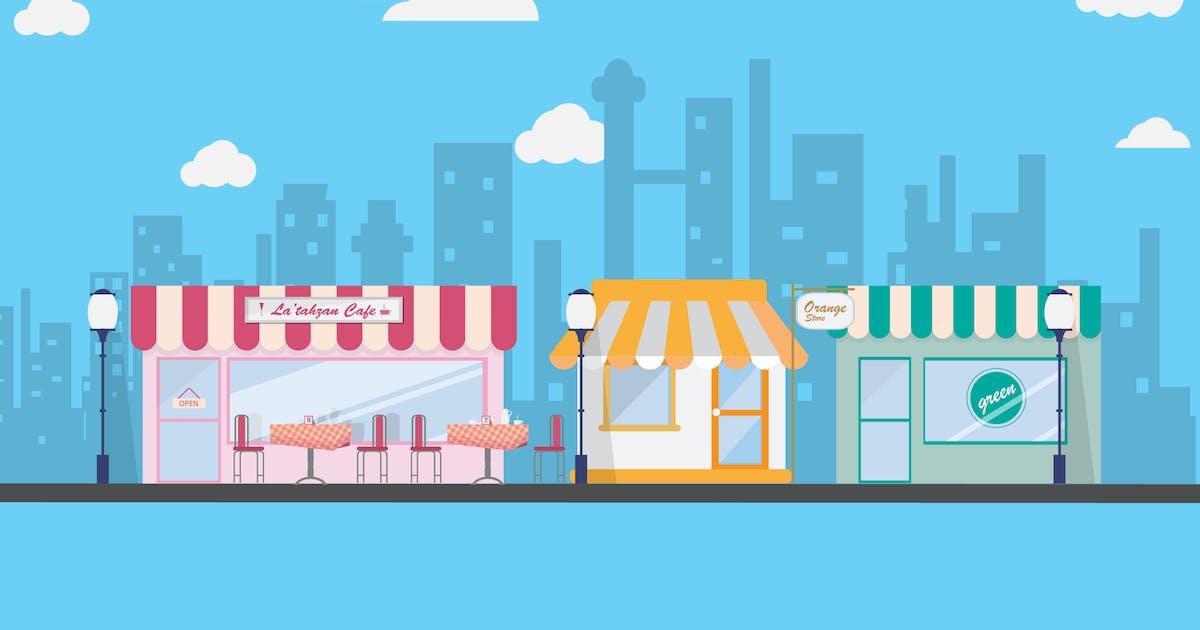 Download Market - Illustration Background by Graphiqa