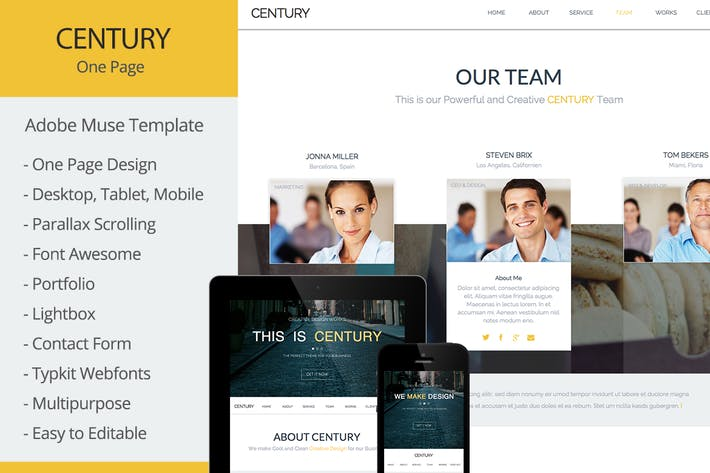 Thumbnail for Century - Multi-Purpose Muse Template