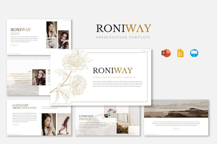 Thumbnail for Шаблон презентации Roniway
