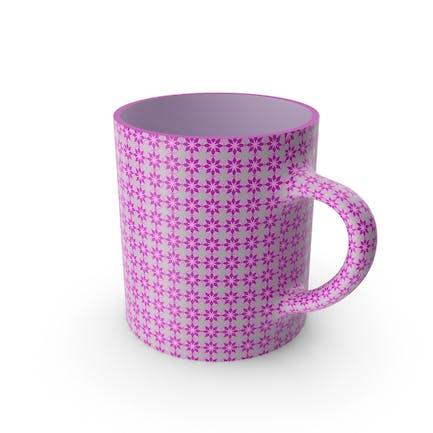 Taza de flores rosa impresa