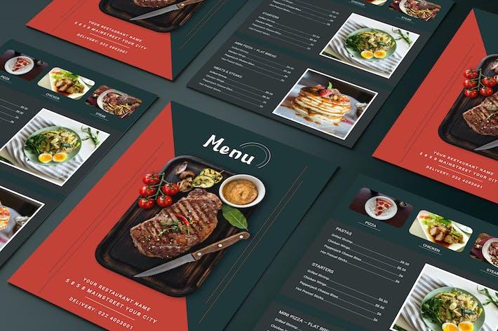 Thumbnail for Restaurant-Menü Zweiseitige Menüliste Vorlage