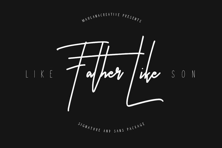 Thumbnail for Like Father Like Son Typeface