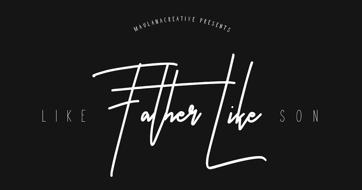 Download Like Father Like Son Typeface by maulanacreative