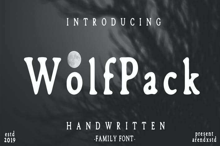 Thumbnail for Wolfpack Family Font