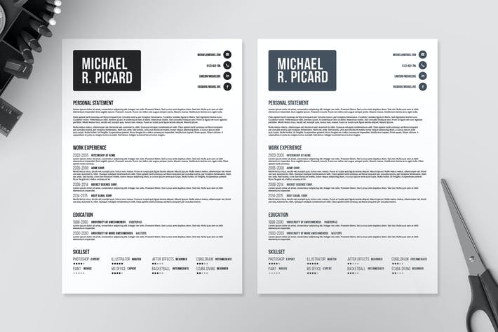 Thumbnail for Resume/CV Template VI