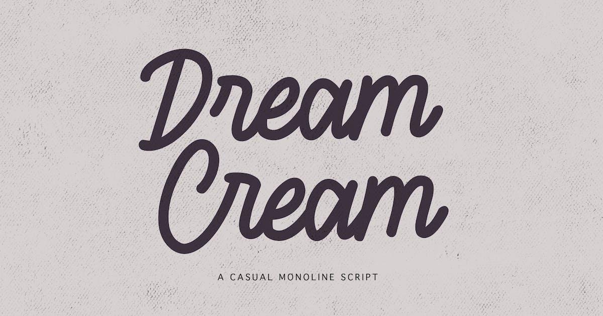 Download Dream Cream - Casual Monoline Script by yipianesia