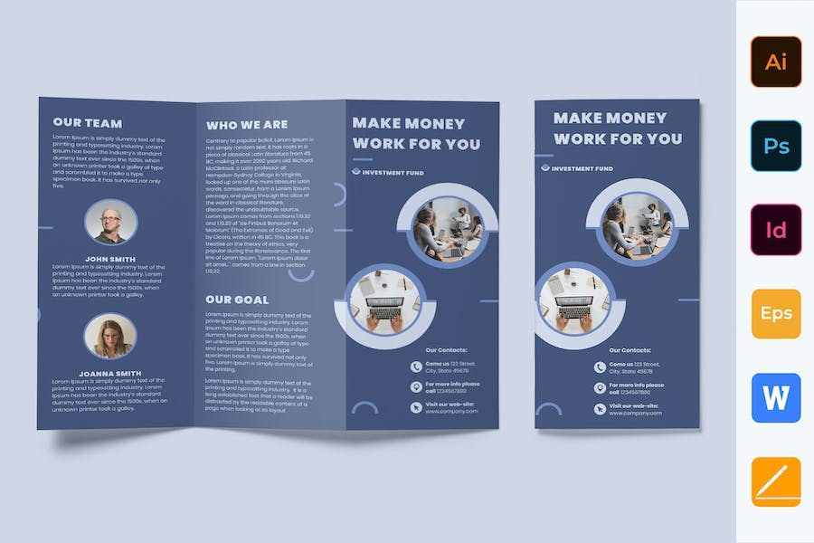 Investment Fund Brochure Trifold