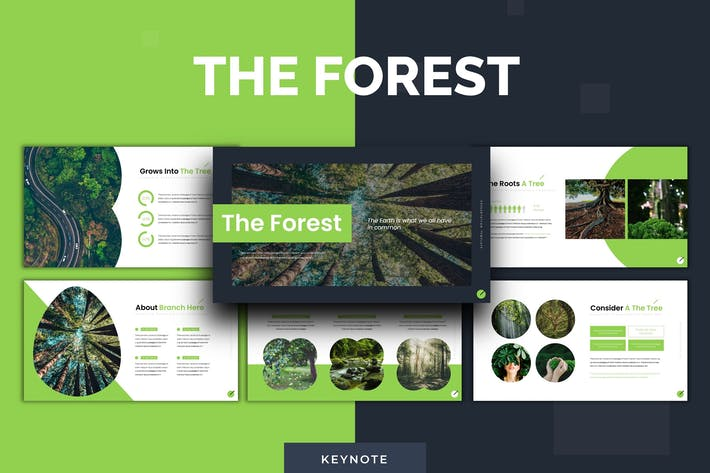 Thumbnail for The Forest - Keynote Template