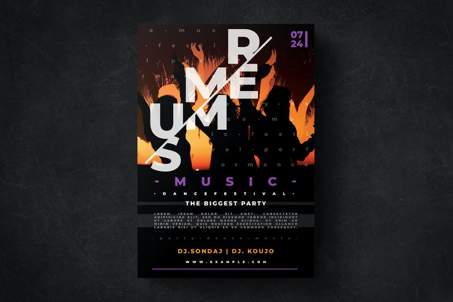 Summer Flyer Party Template