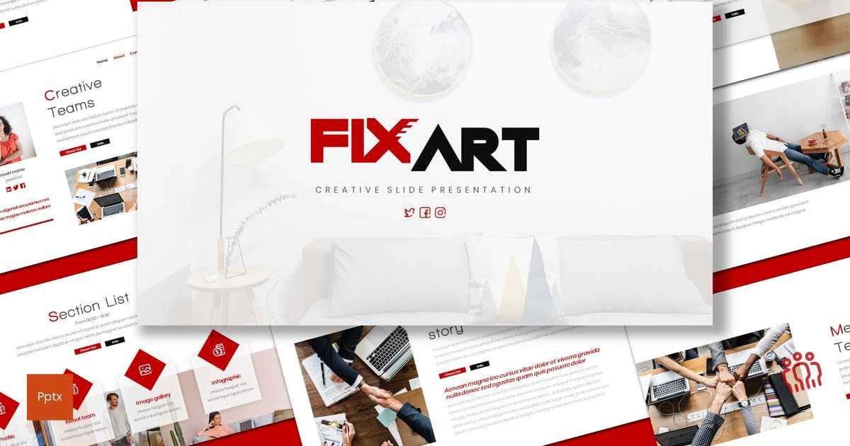 Download Fixart - Business Powerpoint Template by inspirasign