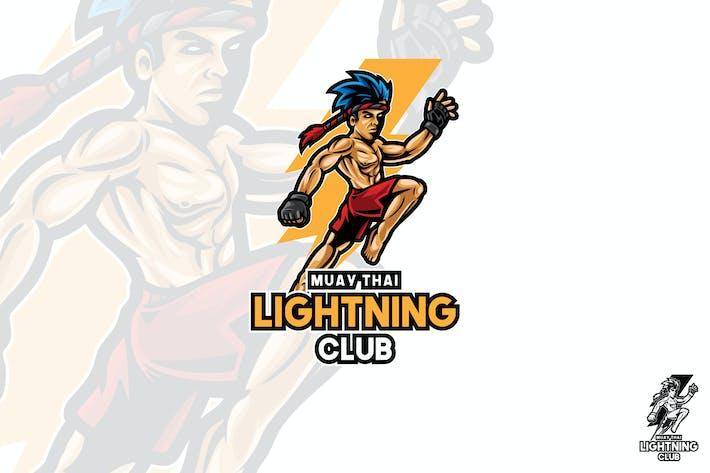 Thumbnail for Muaythai Sport Vector Logo Mascot