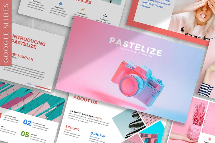 Thumbnail for Pastelize - Business Google Slides Template