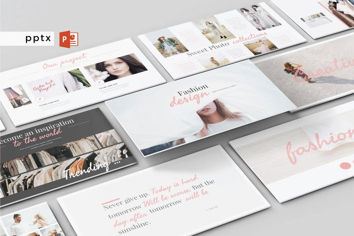 Thumbnail for FASHION DESIGN - Powerpoint Template V138