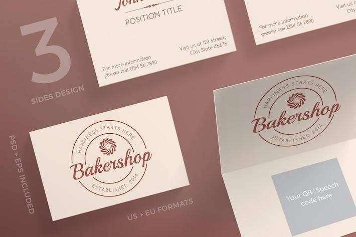 Thumbnail for Baker Shop Business Card Template