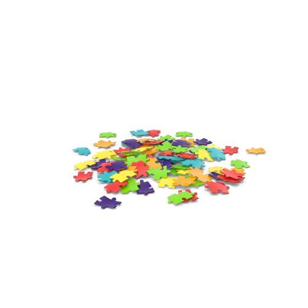 Разные цветные кусочки головоломки