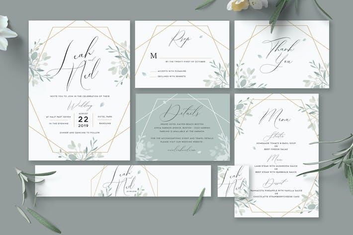 Cover Image For Geometric Wedding Invitation