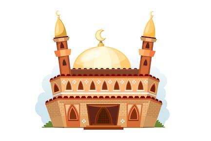 Illustration de la mosquée de dessin animé