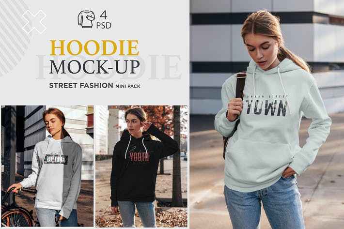 Thumbnail for Hoodie Mock-Up Street Fashion vol.4