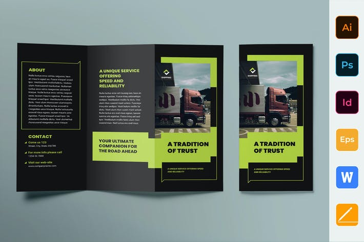 Thumbnail for Shipping Brochure Trifold