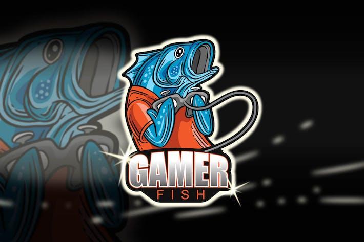 Thumbnail for GAMER FISH - Esport Logo