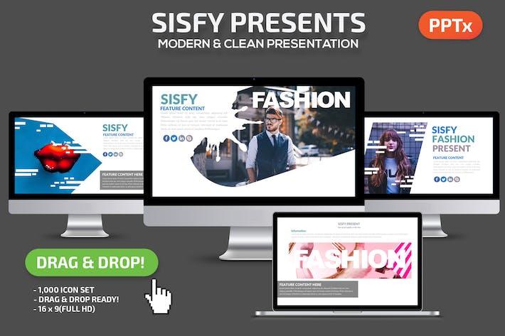 Thumbnail for Шаблон презентации Powerpoint Sisfy
