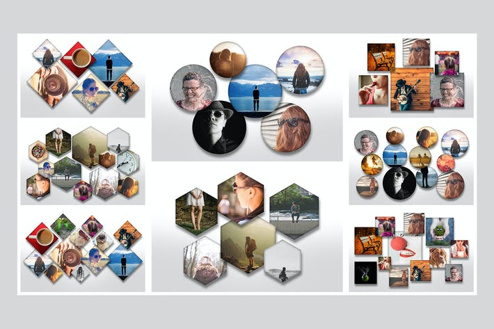 Thumbnail for Overlapping Photo Templates