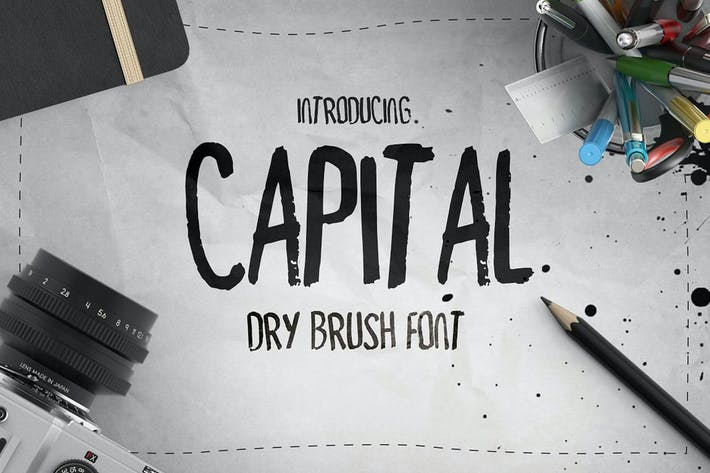 Thumbnail for Capital Dry Brush Font