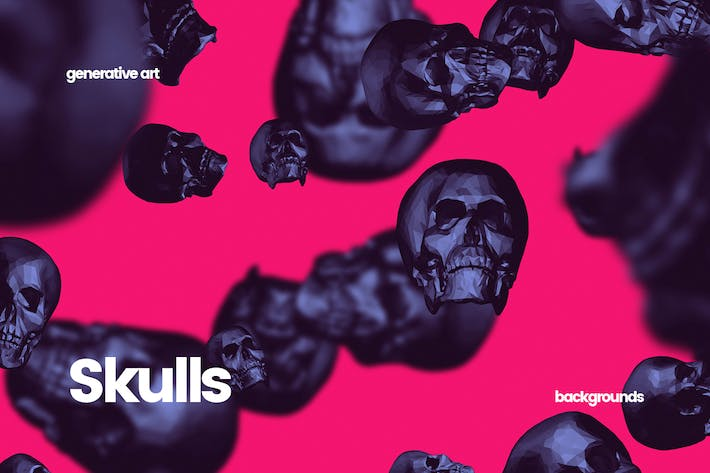 Cover Image For Skulls - Happy Halloween Backgrounds