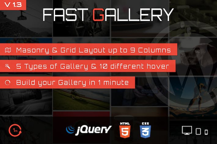 Cover Image For Fast Gallery - Premium Wordpress Plugin