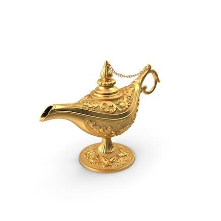 Goldene Magische Lampe