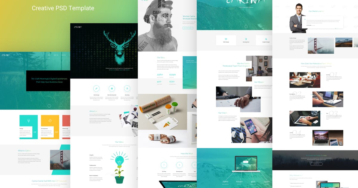 Download Carina - Creative Multipurpose PSD Template by AlitStudio