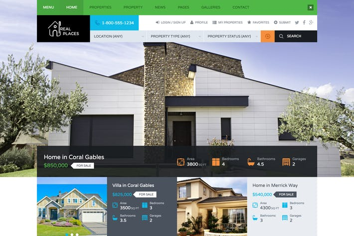 Cover Image For Real Places - HTML5 Template for Real Estate