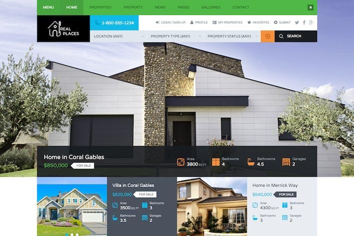 Thumbnail for Lugares reales - Plantilla HTML5 para Bienes Raíces