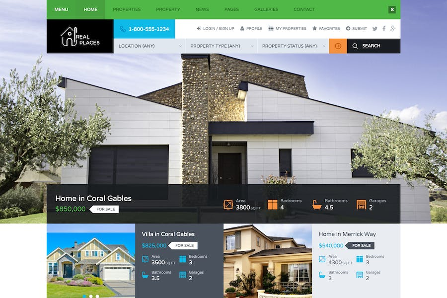 Real Places - HTML5 Template for Real Estate