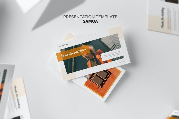 Самоа: Оранжевый градиент цветной тон Powerpoint