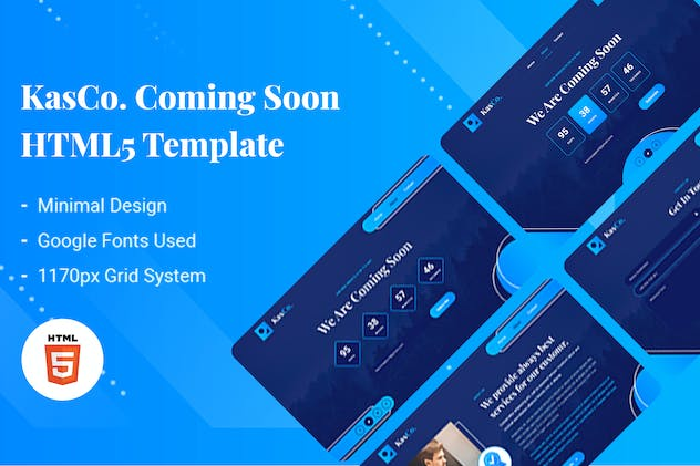 KasCo - Creative Coming Soon HTML5 Template
